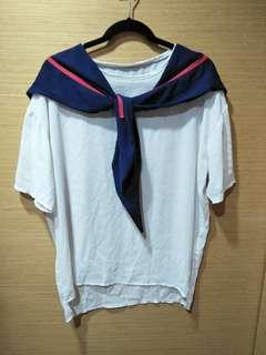 🚚 前短後長水手服設計