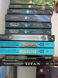 Gamebooks, Lone Wolf, Fighting Fantasy & others