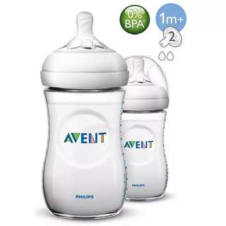 Avent Natural Bottle 9ozs / 260ml Twin Pack