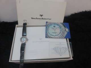 Authentic Technomarine Technolady mother of pearl watch with real diamonds