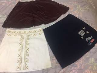 Skirt Bundle (Korean + F21)