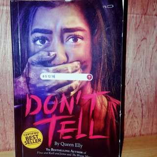 Don't Tell(Wattpad Book)