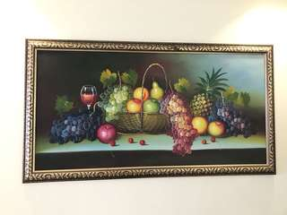 Beautiful fruit basket wall painting with frame Clearance sales!! Price reduced!!