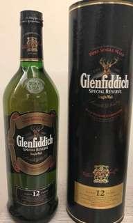 舊版 Glenfiddich 12年 (1公升)