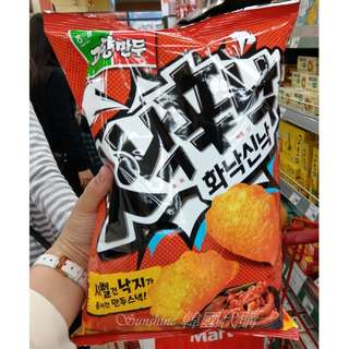 即期出清 韓國 海太 HAITAI 辣炒魷魚 餃子造型餅乾 辛辣 大包裝 114g