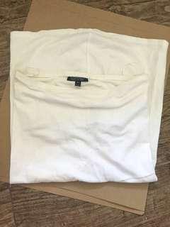 Topshop white inner tube dress