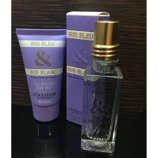 L'Occitane Iris Bleu & Iris Blanc Body Milk and Eau De Toilette