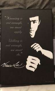 Bruce Lee Wall Hang Wooden Poster