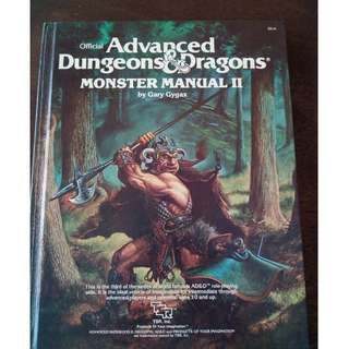 ADVANCED DUNGEONS & DRAGONS, MONSTER MANUAL II, TSR, 1983, GARY GYGAX