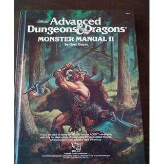 ADVANCED DUNGEONS & DRAGONS, MONSTER MANUAL II, TSR, 1983, GARY GYGAX