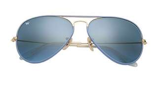 真。RAYBAN BLUE FRAME AVAITOR with case