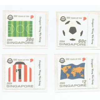 2004 - 8   Mint Stamps  100 Years of FIFA