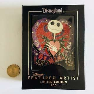 美國迪士尼 Disney Nightmare before Christmas 怪誕城之夜 Jack LE 珍寶 Jumbo限量 500 pin 襟章 徽章