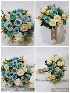 Bridal Bouquet Blue Roses White Roses Wedding Bouquet