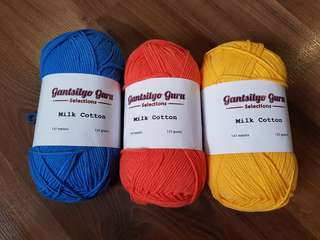 Gantsilyo Guru Milk Cotton Light Bundle (all 3)