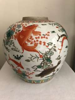 A Fine Porcelain Fish Jar