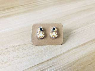 DIY Resin Glazed BB8 Star Wars Plastic Ear Stud