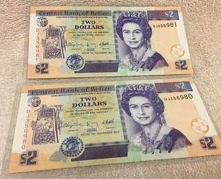 Belize Banknote