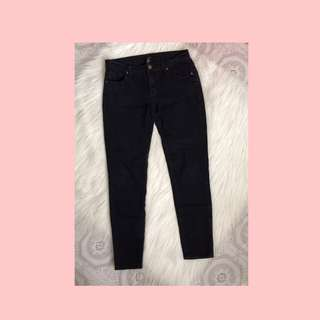FOREVER 21 Semi faded (not solid black) Mid rise denim pants
