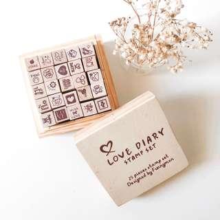 Love Diary Stamp Set (25 pc)