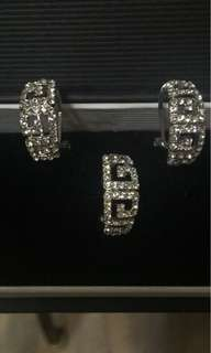 Givenchy Earrings and Ring Set
