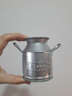 Mini Milk Can Flower Pot