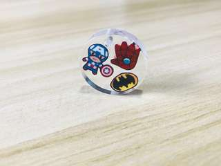 Handmade Customised Personalised Resin Superhero Keychain