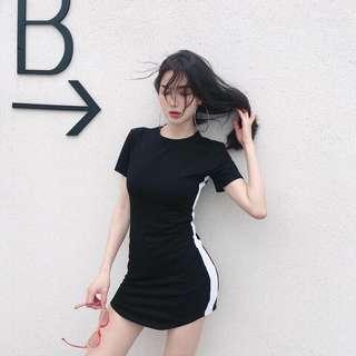 🚚 黑 連身包裙