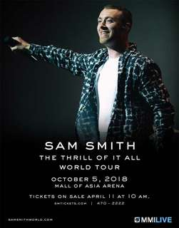 2 Upper Box Tickets Sam Smith Thrill of It All World Tour