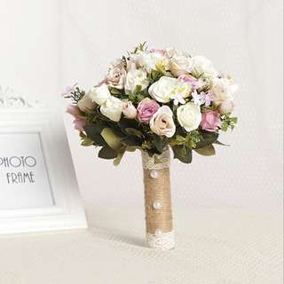 Brand New Artificial Bridal Bouquet, Wedding bouquet Wedding Flower Prenup Flower Dessert Table Flower Birthday Bouquet