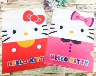 🚚 正版授權 三麗鷗HELLO KITTY 凱蒂貓 雙子星 臉型L夾 資料夾 文件夾 收納夾 置物夾