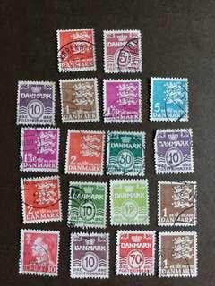 丹麥郵票 已銷郵票18枚