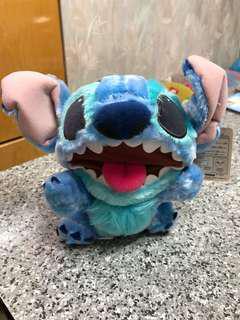 全新Stitch史廸仔硬身大口毛公仔