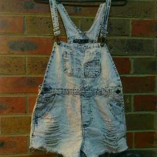 Denim overalls light blue