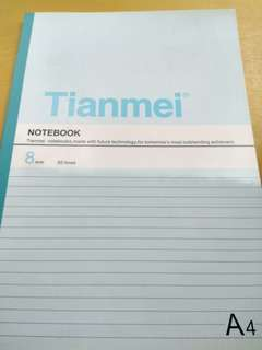 A4 note book 8mm 30 lines (80 pages)