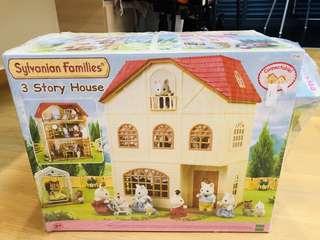 Sylvanian Family 3 stories house & bundle