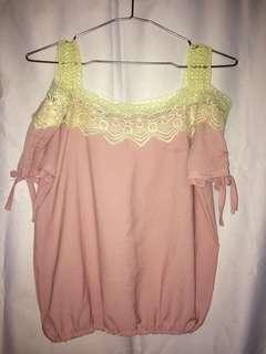 Blush Pink Off-Shoulder