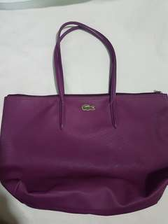 Original Lacoste Purple Bag - used but no abused