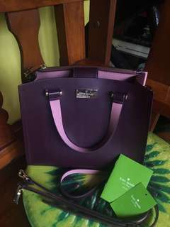 Kate Spade purple bag with sling