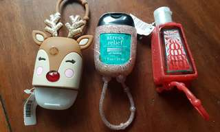 OFF SEASON SALE: SET OF 3 BATH & BODY WORKS LIMITED ED. POCKETBAC HAND GEL