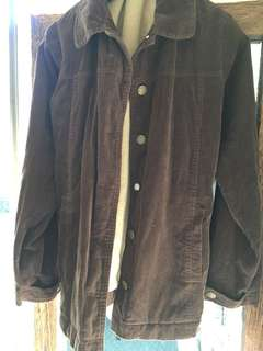 Brown lined cord jacket