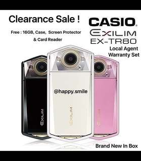 Clearance Stock ! Casio TR80 (Black/White/Pink)