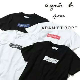 agnes b 倒入ADAM ET PORE T-shirts♤日本制