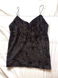 Black velvet top (sale 280 na Lang!)