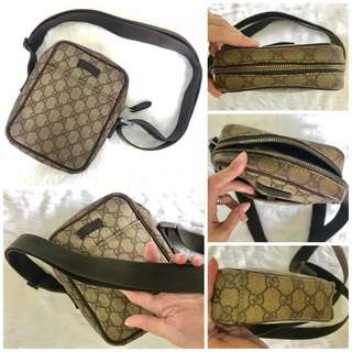 Gucci GG Coated Canvass Sling Small Brown