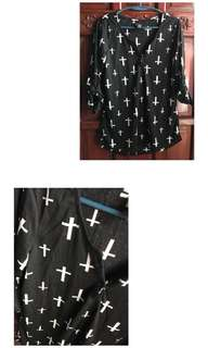 Black and White Cross Trop