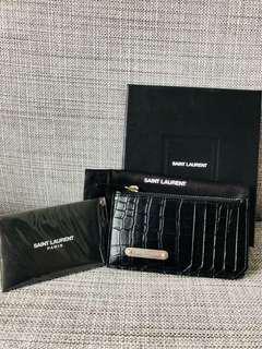 Authentic Brand new YSL Saint Laurent purse cardholder zip pouch