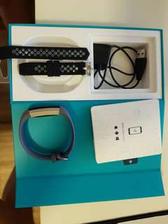 FITBIT ALTA HR BLUE GRAY BAND SMALL GREAT CONDITION WITH FREE BAND