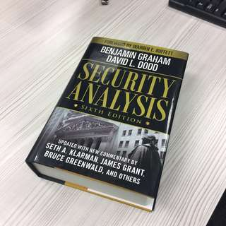 [BN] in stock! Security Analysis 6th Ed by Benjamin Graham & Graham Dodd - investment bible at 38% off retail price!