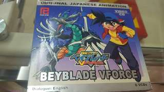 6 original japanese Bayblade VCDs